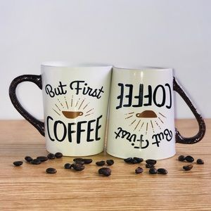Accessories - BUT first coffee glitter handle coffee mug